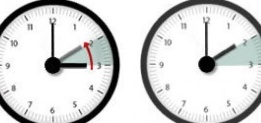 reloj horarrio invierno