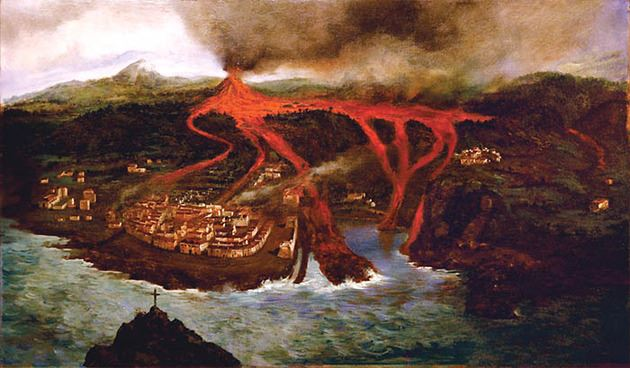Fotos coplas y poemas eleg as en octavas rimas a la gran quema de garachico fray marcos - Cuadros tenerife ...