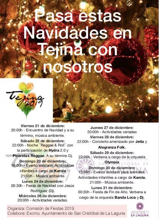 Tejina, Bajamar y Valle de Guerra celebran la Navidad con un